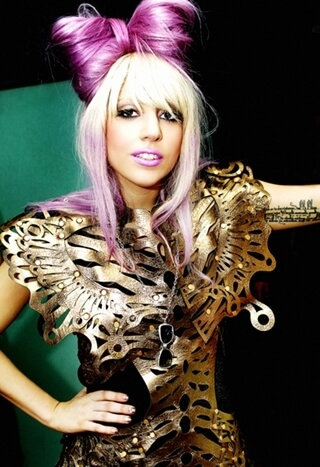 Lady Gaga Wearing a Purple Hair bow Song of the Day | Eat Sleep Breathe Music