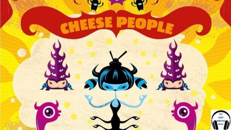 Album Of Cheese People Cartoon with Woman and two creatures on each side | Eat Sleep Breathe Music