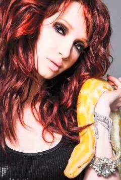 Red Headed Woman (singer Emii) holding yellow cobra | Eat Sleep breathe Music