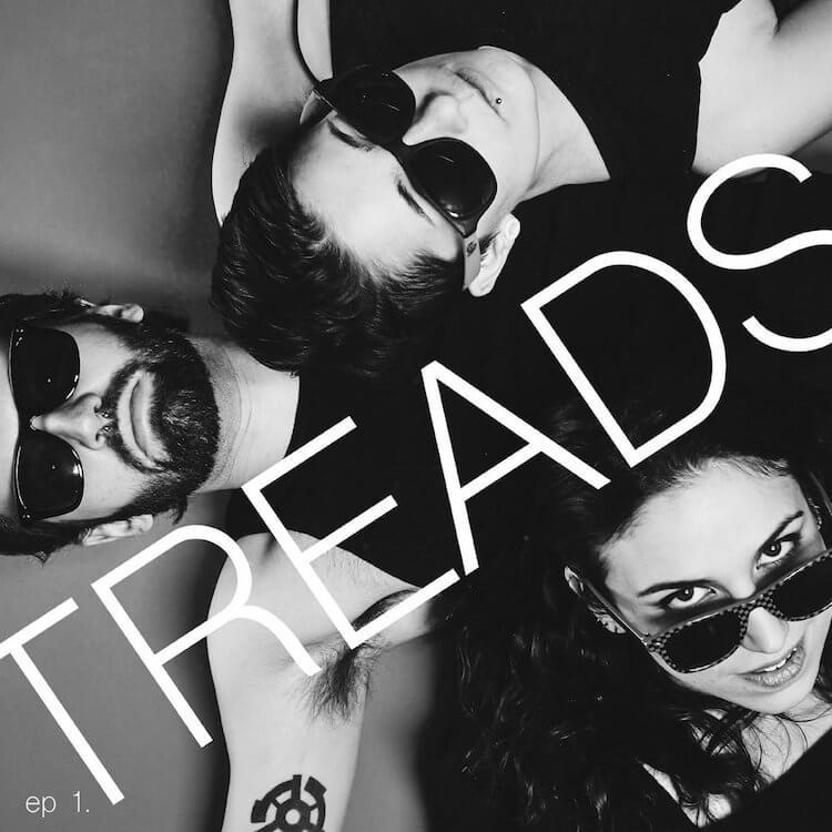 Band Treads Wearing Sunglasses in Black and White | Eat Sleep Breathe Music