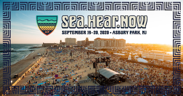 Asbury Park Beach Scene with Word SEa Hear Now 2020 Festival   Eat Sleep Breathe Music
