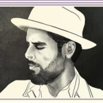 """Man with Beard and White Hat and White Collared Shirt 