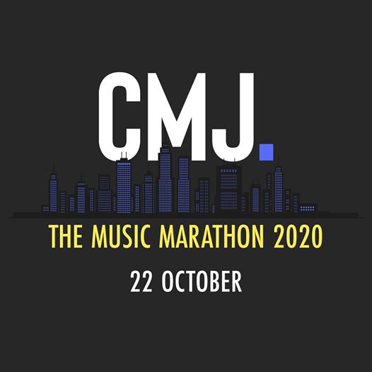 "Black Background with words ""CMJ The Music Marathon 2020 October 22nd | Eat Sleep Breathe Music"