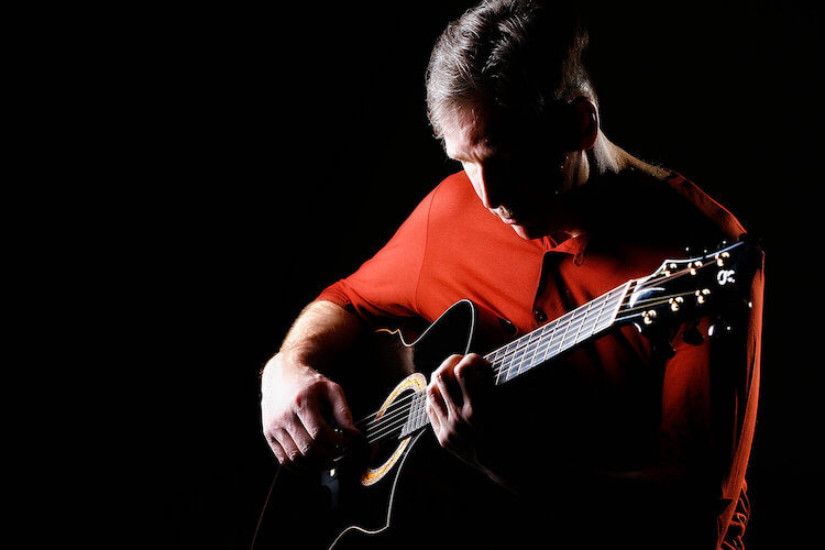 Mark Vickness White Man Playing Guitar Wearing a Red Shirt | Song of the Day | Eat Sleep Breathe Music