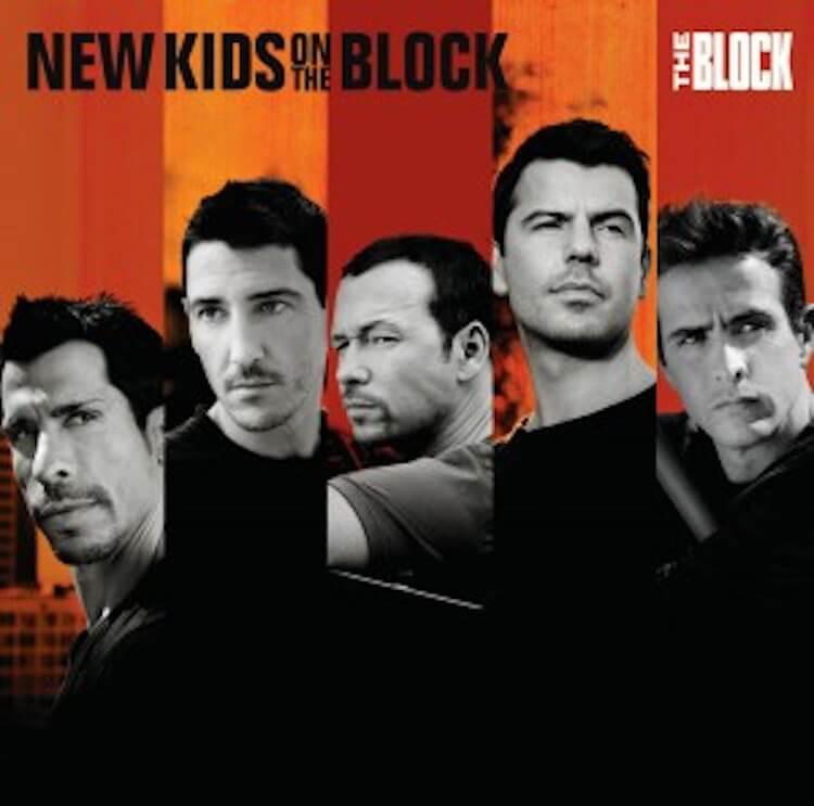 "New Kids on the block ""The Block"" CD Cover Dany, Jon, Donny, Jordan and Joe   Eat Sleep Breathe Music"