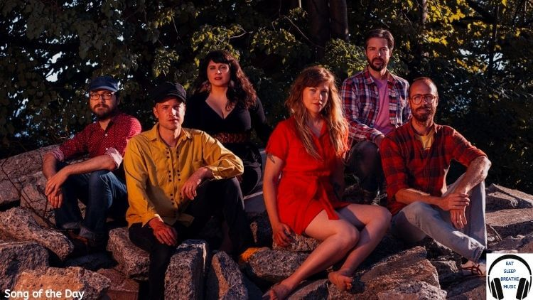 Beams Band Members Sitting on rocks Song of the Day Feature   Eat Sleep Breathe Music